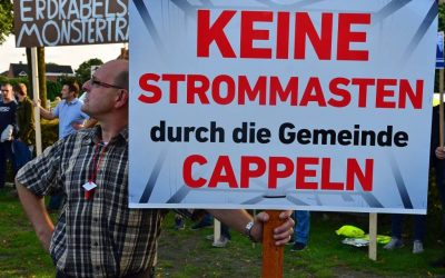 Gelungene Demo gegen Überland-Stromtrasse